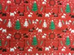 SCOTTIE AND WESTIE - Christmas material - Fabric - Price Per Metre